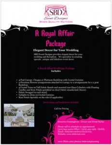 A Royal Affair Package from SBD Event Designs