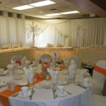 Orange and Ivory Wedding Reception.